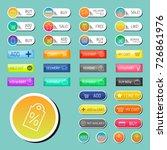 colorful website online shop... | Shutterstock .eps vector #726861976