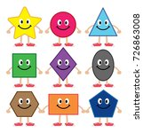 various cartoon shapes for kid... | Shutterstock .eps vector #726863008