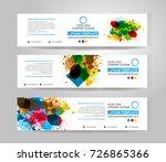 vector banner set. color... | Shutterstock .eps vector #726865366
