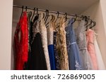 many ladies evening gown long... | Shutterstock . vector #726869005