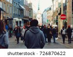 urban man standing turn around... | Shutterstock . vector #726870622