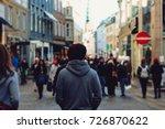 Urban Man Standing Turn Around...