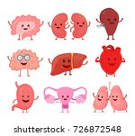cute smiling happy human... | Shutterstock .eps vector #726872548