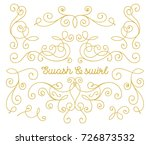 swashes and swirls set. gold... | Shutterstock .eps vector #726873532