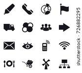 16 vector icon set   marker ...