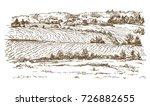agricultural landscape. hand...   Shutterstock .eps vector #726882655