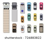 collection of various vehicles. ... | Shutterstock . vector #726883822