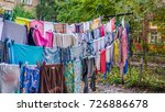 colorful clothes and big size... | Shutterstock . vector #726886678
