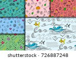 cartoon doodles hand drawn... | Shutterstock .eps vector #726887248
