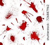red blood or paint splatters... | Shutterstock .eps vector #726887962