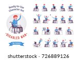 male young wheelchair user... | Shutterstock .eps vector #726889126