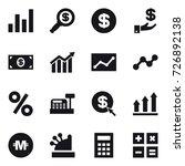 16 vector icon set   graph ... | Shutterstock .eps vector #726892138