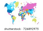 color world map | Shutterstock .eps vector #726892975
