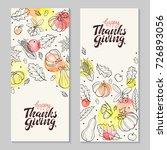 happy thanksgiving day. hand... | Shutterstock .eps vector #726893056