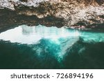 blue sea and rocky cave... | Shutterstock . vector #726894196