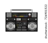 retro audio player in a flat... | Shutterstock .eps vector #726901522