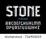 decorative sanserif font with... | Shutterstock .eps vector #726903025