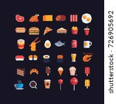 pixel art food spites icons set ... | Shutterstock .eps vector #726905692