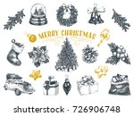 beautiful vector hand drawn... | Shutterstock .eps vector #726906748