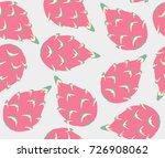 dragon fruit seamless pattern | Shutterstock .eps vector #726908062