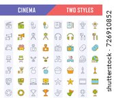 set vector line icons  sign and ... | Shutterstock .eps vector #726910852