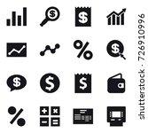 16 vector icon set   graph ...   Shutterstock .eps vector #726910996