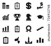 16 vector icon set   coin stack ... | Shutterstock .eps vector #726912748