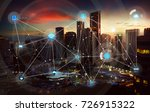 smart city and wireless... | Shutterstock . vector #726915322