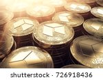 neo coins in blurry closeup... | Shutterstock . vector #726918436