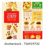 fast food restaurant menu... | Shutterstock .eps vector #726919732