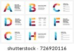 vector alphabet infographic ... | Shutterstock .eps vector #726920116