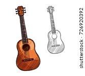 guitar string musical...   Shutterstock .eps vector #726920392