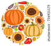 round autumn composition of... | Shutterstock .eps vector #726921175