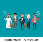 business people using... | Shutterstock .eps vector #726921985