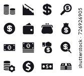 16 vector icon set   coin stack ... | Shutterstock .eps vector #726926905