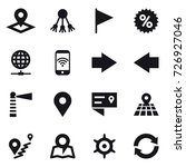 16 vector icon set   pointer ... | Shutterstock .eps vector #726927046