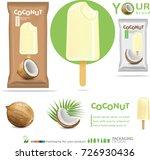 coconut ice cream.illustration | Shutterstock .eps vector #726930436