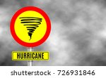 stormy weather ahead sign board ... | Shutterstock .eps vector #726931846