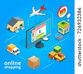 concept illustration of buying... | Shutterstock .eps vector #726932386