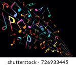 colorful music notes. vector...   Shutterstock .eps vector #726933445