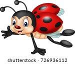 cartoon ladybug flying isolated ... | Shutterstock .eps vector #726936112