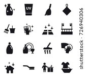 16 vector icon set   cleanser ... | Shutterstock .eps vector #726940306