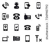 16 vector icon set   call  call ... | Shutterstock .eps vector #726940792