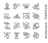 robo advisors line icon set.... | Shutterstock .eps vector #726945142