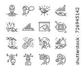 robo advisors line icon set.... | Shutterstock .eps vector #726945142
