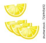 lemon simple vector illustration | Shutterstock .eps vector #726945652