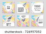 abstract vector layout... | Shutterstock .eps vector #726957052