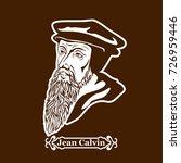 jean calvin. protestantism.... | Shutterstock .eps vector #726959446