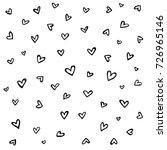 seamless hand drawn heart... | Shutterstock .eps vector #726965146