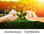 loan or save for buy a house... | Shutterstock . vector #726968182